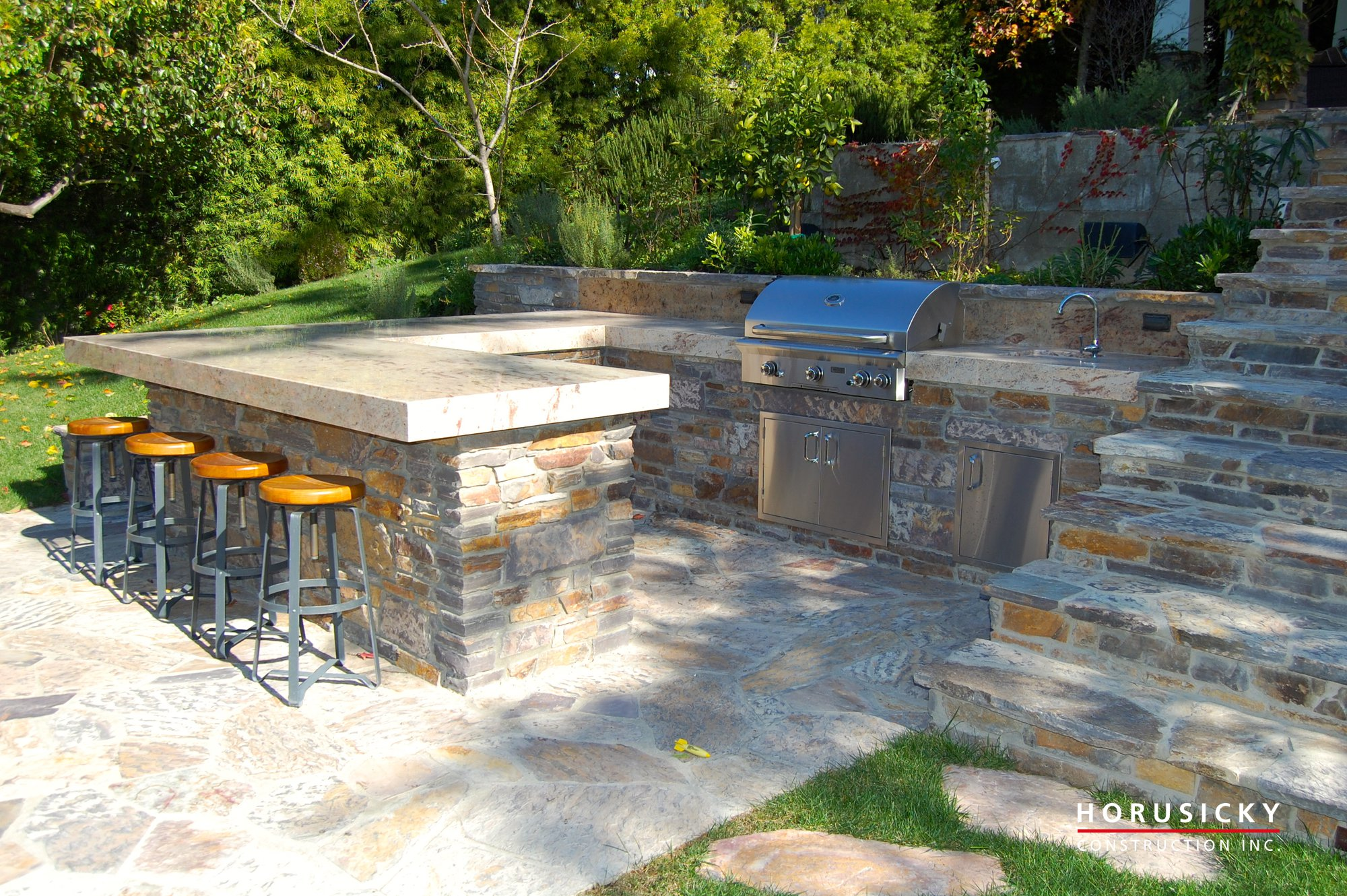 custom outdoor kitchens u0026 bbqs horusicky construction