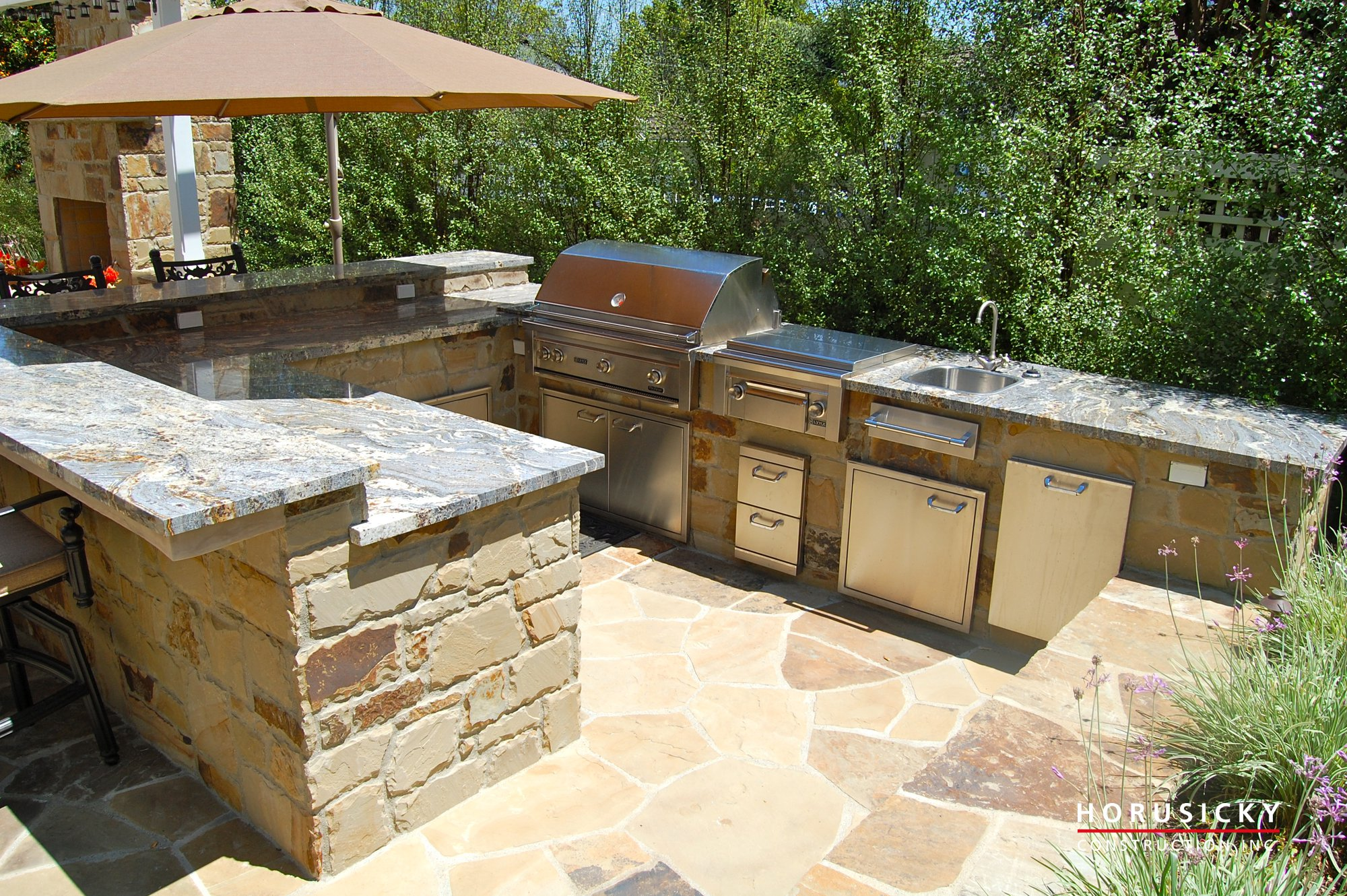 Outdoor Kitchens and BBQ Grills - Horusicky Construction on Backyard Patio Grill Island id=14279